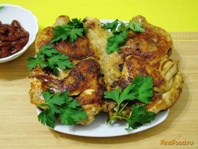 Рецепт Жареный цыпленок табака рецепт с фото