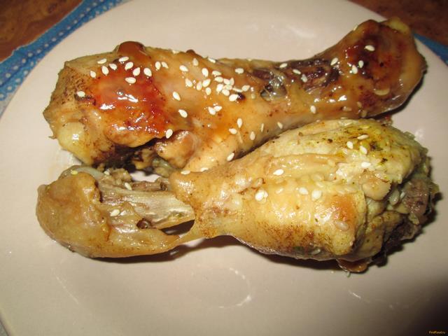 Рецепт Куриные ножки с кунжутом по-восточному рецепт с фото