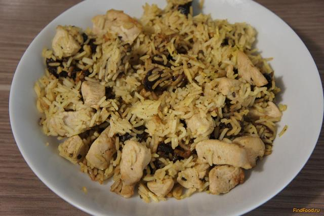 Рецепт Курица с рисом и черносливом рецепт с фото