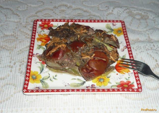 Рецепт Печень запеченная с кабачками рецепт с фото