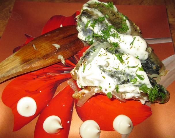 Рецепт Жареная скумбрия под майонезом рецепт с фото