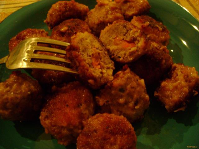 Рецепт Мясные шарики с морковной начинкой рецепт с фото