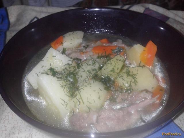 тушеная картошка с свиными ребрышками рецепт с фото