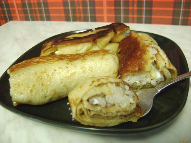 Блинчики с яйцом и рисом рецепт пошагово