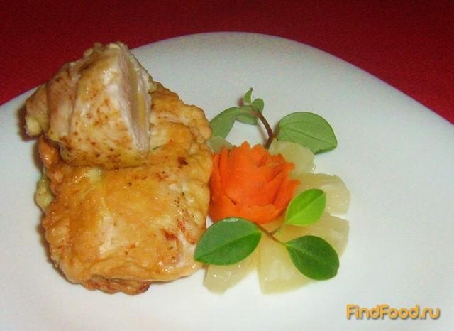 Куриные рулетики с ананасом и сыром рецепт с фото 4-го шага