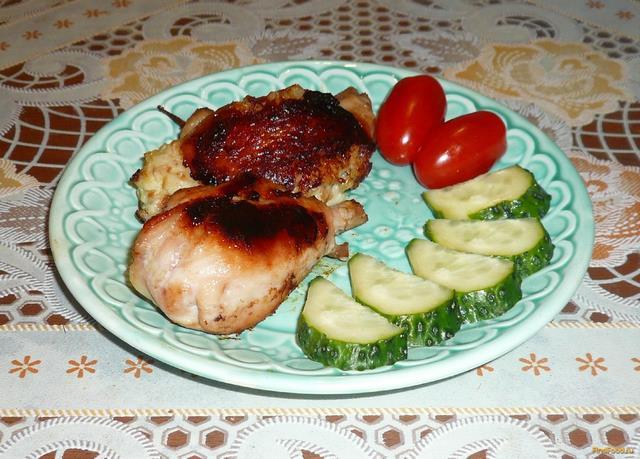 Рецепт Куриные голени с сюрпризом рецепт с фото