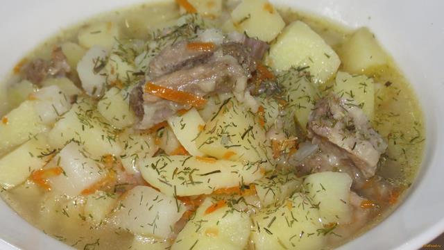 Рецепт Тушеная картошка с бараниной рецепт с фото
