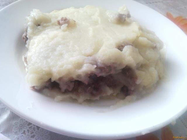 Рецепт Запеканка картофельная с куриным и говяжьим фаршем рецепт с фото
