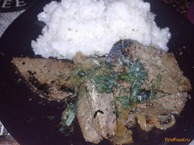 Рецепт Говяжья печень в молоке рецепт с фото