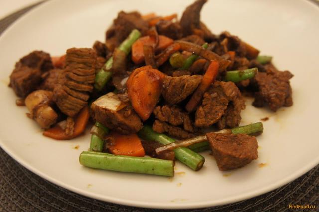 Рецепт Говядина с овощами в соевом соусе рецепт с фото