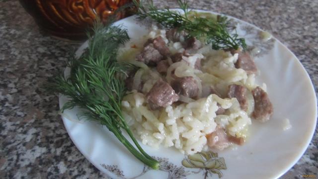 Рецепт Рис с говядиной в горшочке рецепт с фото