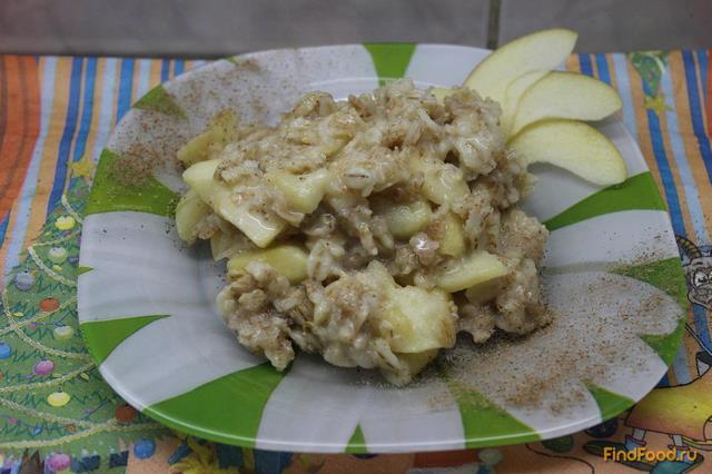 Рецепт Овсянка с медом и яблоками в сливках рецепт с фото