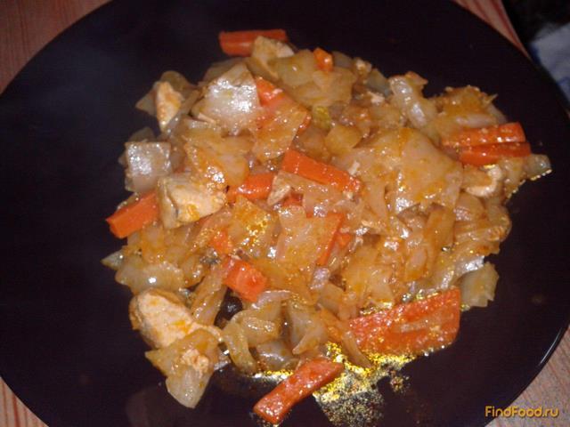 Рецепт тушеной капусты без мяса с пошагово