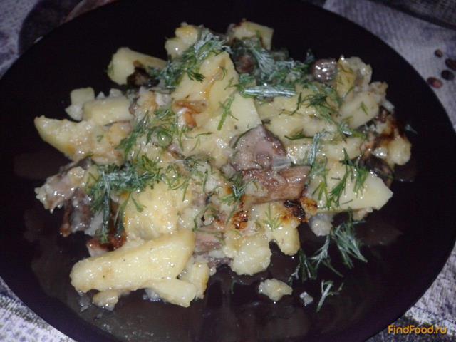 Рецепт Жареный картофель с маслятами рецепт с фото
