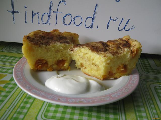 Рецепт Творожная запеканка с курагой и пряностями без яиц рецепт с фото