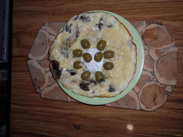 Рецепт Омлет с грибами и сыром рецепт с фото