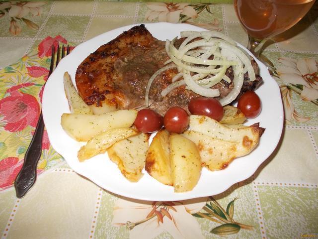 Рецепт Свинина с картофелем в духовке рецепт с фото