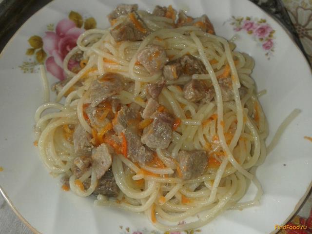 Рецепт Спагетти со свининой рецепт с фото