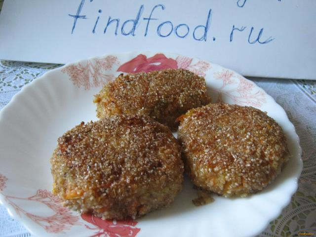 Рецепт Морковные котлеты с фасолью рецепт с фото