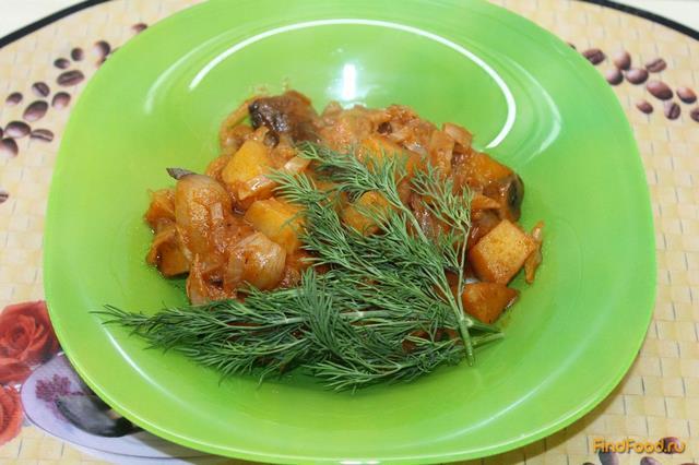 Рецепт Овощное жаркое в томатном соусе рецепт с фото