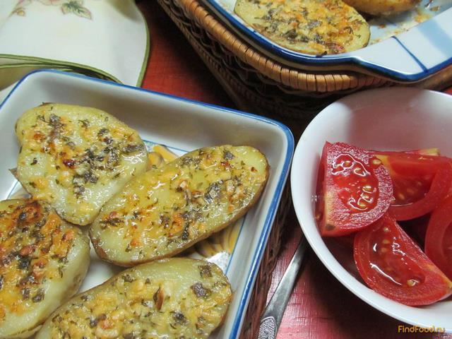 Рецепт Картофель с чесночной начинкой рецепт с фото