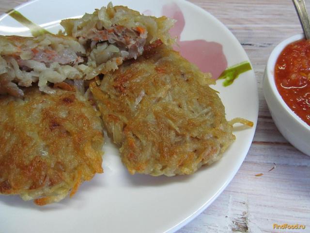 Рецепт Картофельные драники с мясом из свинины рецепт с фото