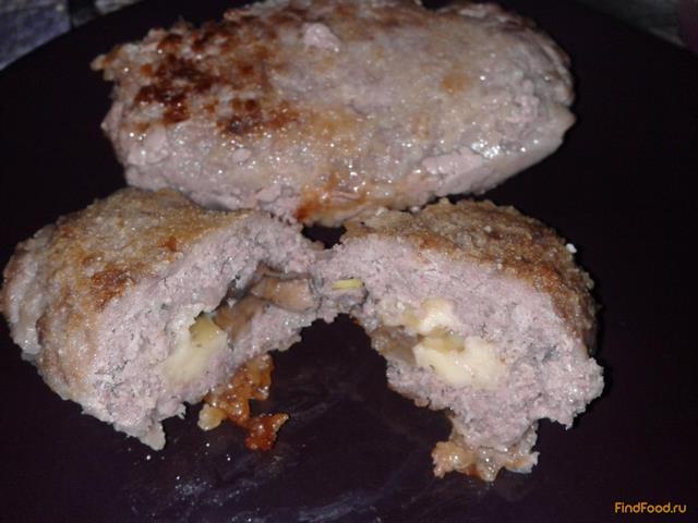 Рецепт Зразы с опятами и сыром рецепт с фото