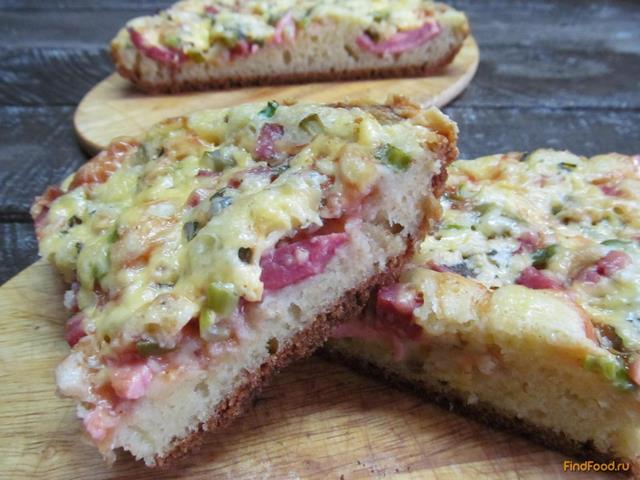 Рецепт Быстрая пицца на двоих рецепт с фото