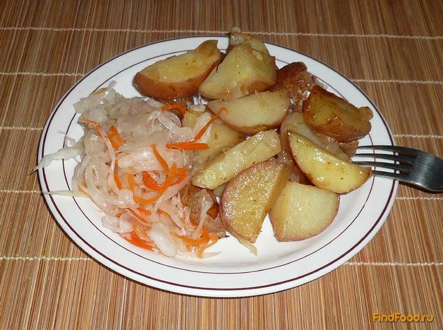 Рецепт Картофель запеченный с луком рецепт с фото