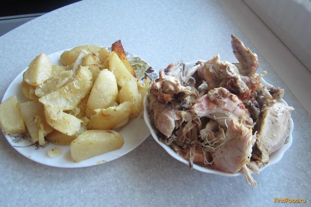 Рецепт Курица с картошкой в духовке рецепт с фото