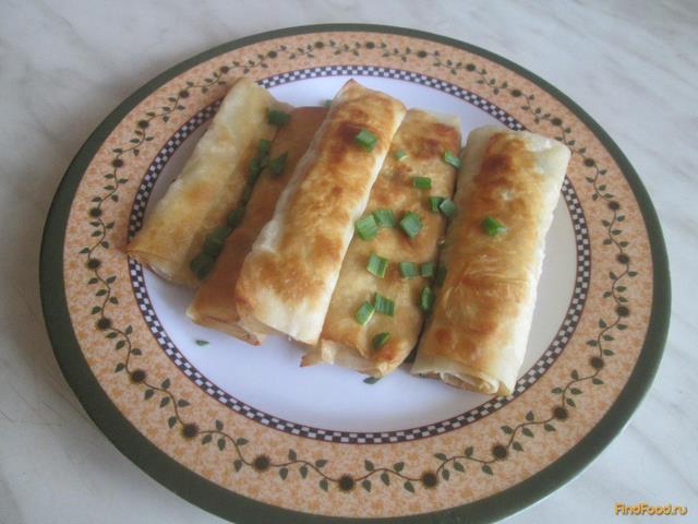 Рецепт Трубочки из лаваша с мясом рецепт с фото