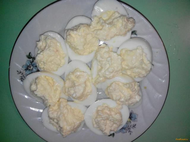 Яйца фаршированные чесноком рецепт с пошагово
