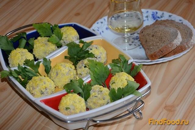 Рецепт Закусочные шарики Мимоза рецепт с фото