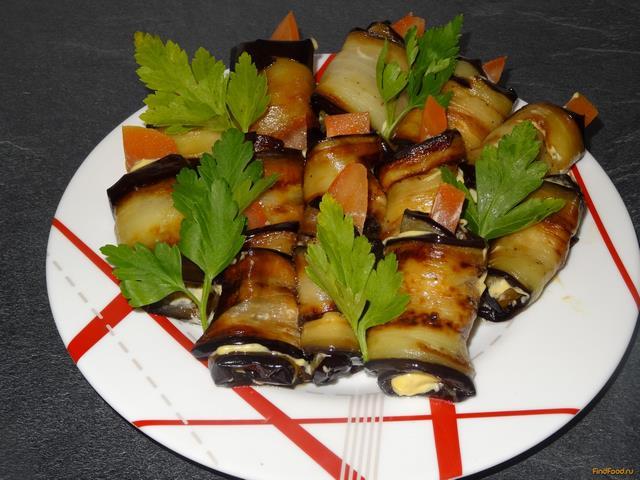 Рецепт Баклажаны с майонезом и помидором рецепт с фото