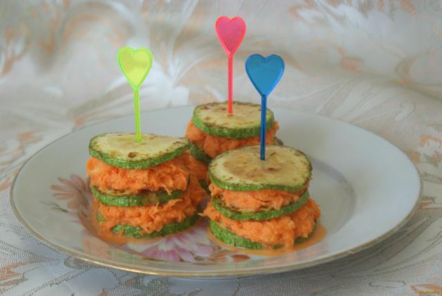 Рецепт Закуска из кабачков и моркови рецепт с фото