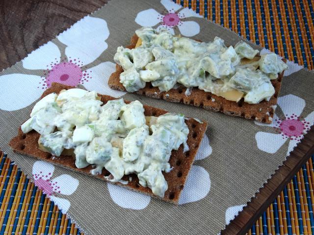 Рецепт Бутерброды с авокадо сыром и яйцом рецепт с фото