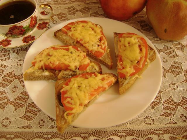 Рецепт Горячие бутерброды с шампиньонами и сыром рецепт с фото