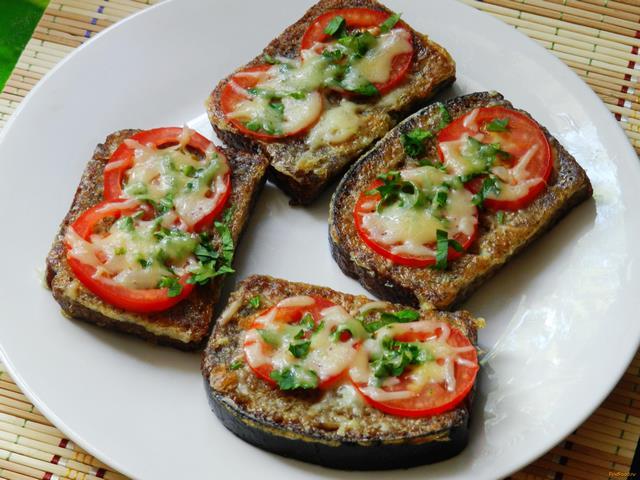 Рецепт Гренки с томатами и зеленью рецепт с фото