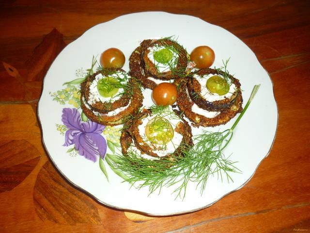 Рецепт Башенки из кабачков и баклажанов рецепт с фото
