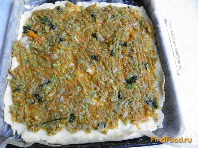 Закусочный пирог с кабачком - фото 12 шага