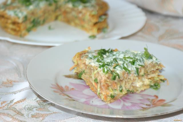 Рецепт Кабачковый торт с ржаной мукой рецепт с фото