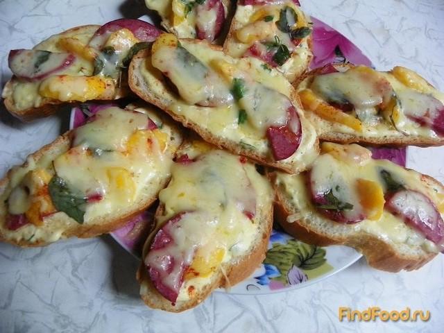 Рецепт Горячие бутерброды с персиками рецепт с фото