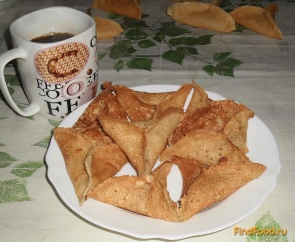 Рецепт Блинчики с сыром и чесноком рецепт с фото
