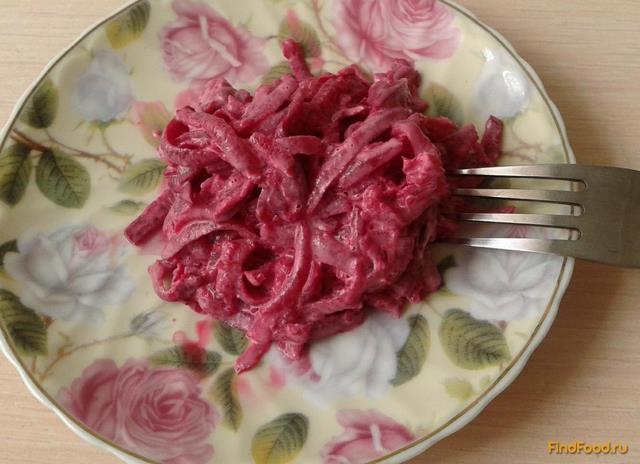 Рецепт Вареная свекла с чесноком и майонезом рецепт с фото