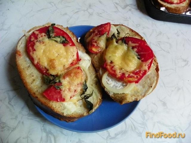 Рецепт Гренки с помидорами на черном хлебе рецепт с фото