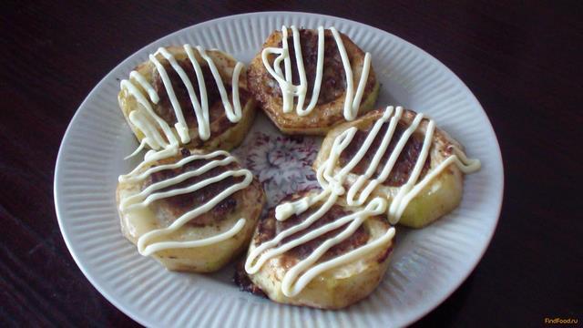 Рецепт Кабачковые кольца с мясом рецепт с фото