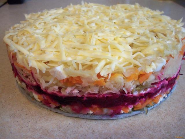 Рецепт Закусочный овощной торт рецепт с фото