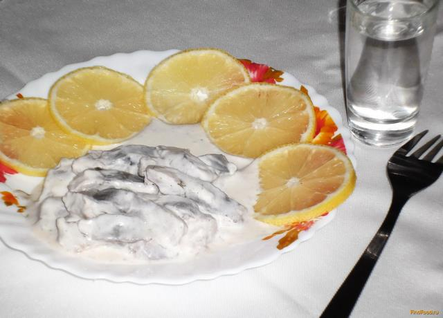 Рецепт Сельдь в сметане с водкой рецепт с фото