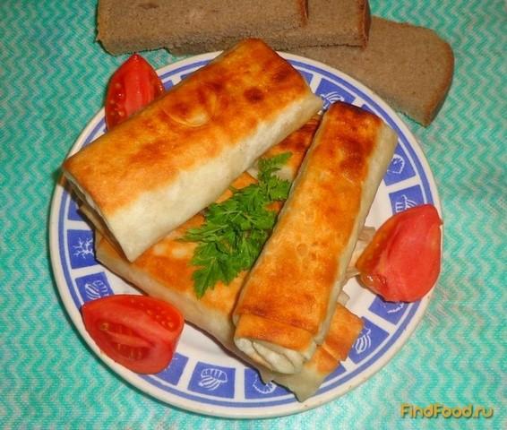 Рецепт Рулеты из лаваша с рыбой рецепт с фото