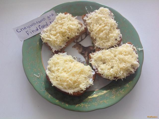 бутерброды с майонезом и сыром в духовке рецепт